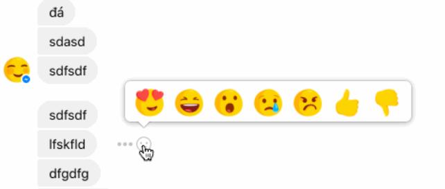 Reazioni su Messanger